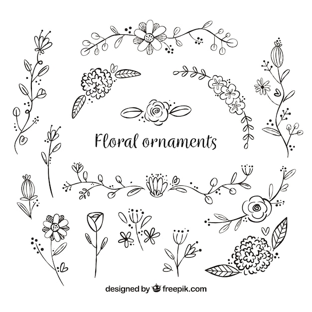 Ensemble D Ornements Fleuris 224 La Main T 233 L 233 Charger