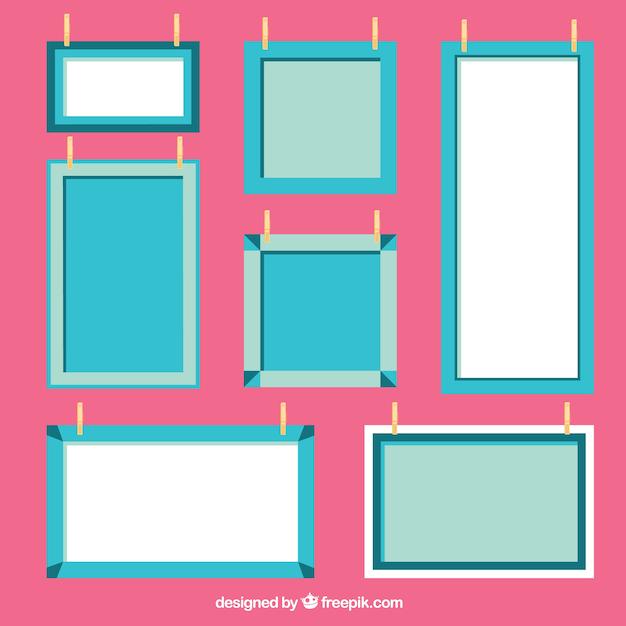 ensemble de cadres d coratifs plats t l charger des. Black Bedroom Furniture Sets. Home Design Ideas