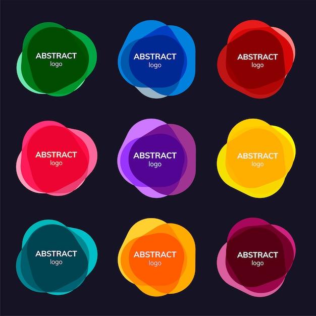 Ensemble de dessins abstraits de badge Vecteur gratuit