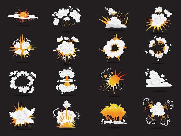 Ensemble D'effet De Boom Explosif. Vecteur Premium