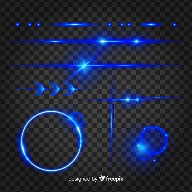Ensemble D'effets Lumineux Technologiques Vecteur gratuit