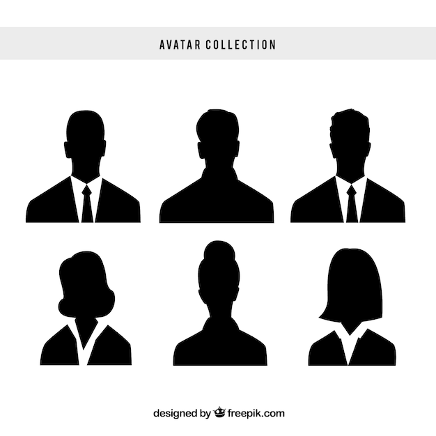 Ensemble élégant D'avatars D'entreprise Vecteur Premium