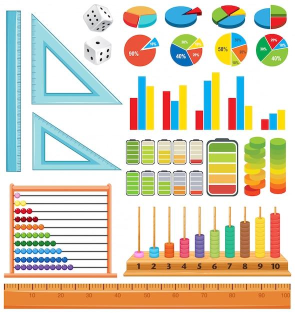 Ensemble D'élément Mathématique Vecteur gratuit