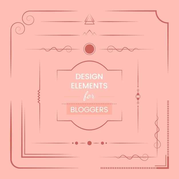 Ensemble d'éléments de conception pour le vecteur de blogueurs Vecteur gratuit