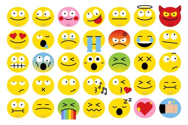 Ensemble D'emoji Différent Vecteur gratuit