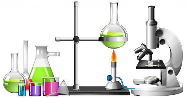 Ensemble d'équipements scientifiques Vecteur gratuit