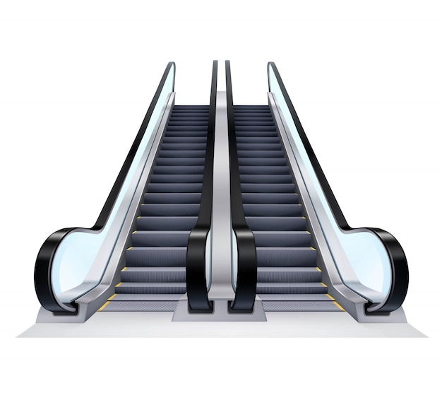 Ensemble d'escalators Vecteur gratuit