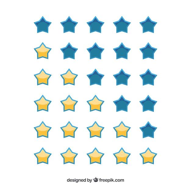 Ensemble D'étoiles De Classement Vecteur gratuit
