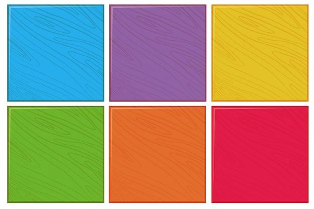 Ensemble de fond bois de couleur Vecteur gratuit