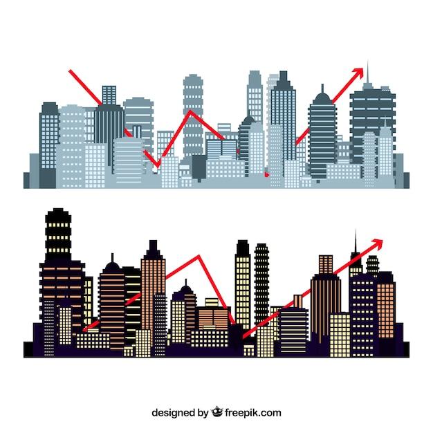 Ensemble de formes de bâtiments Vecteur gratuit
