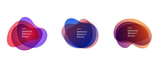 Ensemble De Formes Superposées Transparentes Abstraites Vecteur gratuit