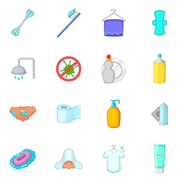 Ensemble d'icônes d'hygiène Vecteur Premium