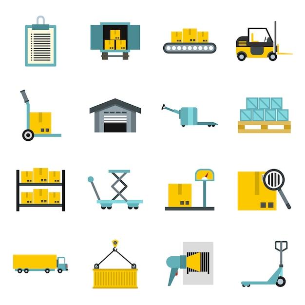 Ensemble d'icônes logistique Vecteur Premium