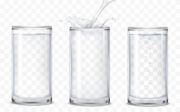 Ensemble d'icônes lunettes avec un verre Vecteur gratuit