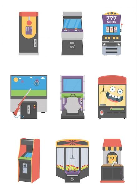 Ensemble D'icônes De Machines à Sous Vecteur Premium