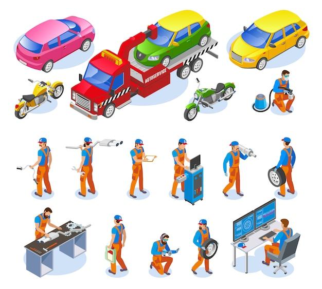 Ensemble D'icônes De Service Automatique Vecteur gratuit