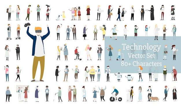 Ensemble D'illustration De Vecteur Avatar Humain Vecteur gratuit