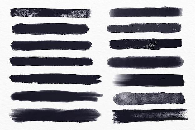 Ensemble D'illustrations De Coup De Pinceau D'encre Vecteur gratuit