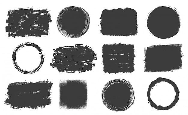 Ensemble D'images Grunge Vecteur gratuit