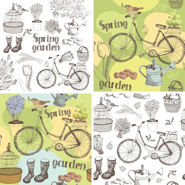 Ensemble de jardin Vecteur gratuit