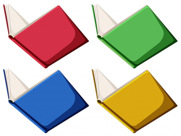 Ensemble de livres Vecteur gratuit