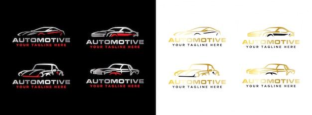 Ensemble De Logo Automobile Moderne Simple Vecteur Premium