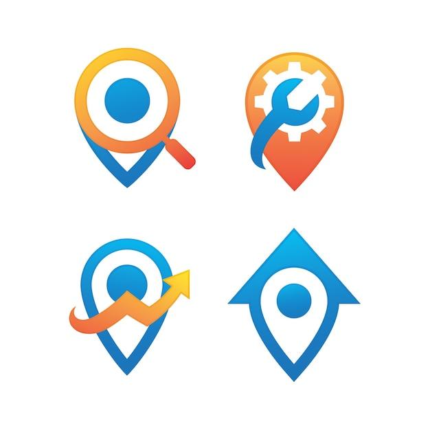 Ensemble De Logo De Broche Vecteur Premium