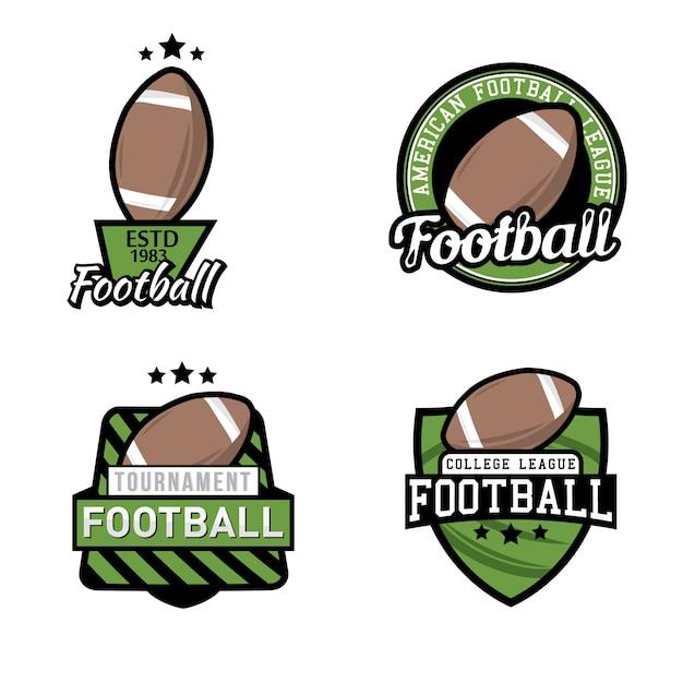 Ensemble De Logo De Championnat / Tournoi / Club De Football Américain, Badges, étiquettes, Icônes Et éléments De Conception. Vecteur Premium