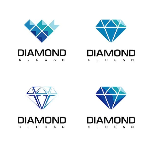 Ensemble De Logo De Diamant Vecteur Premium