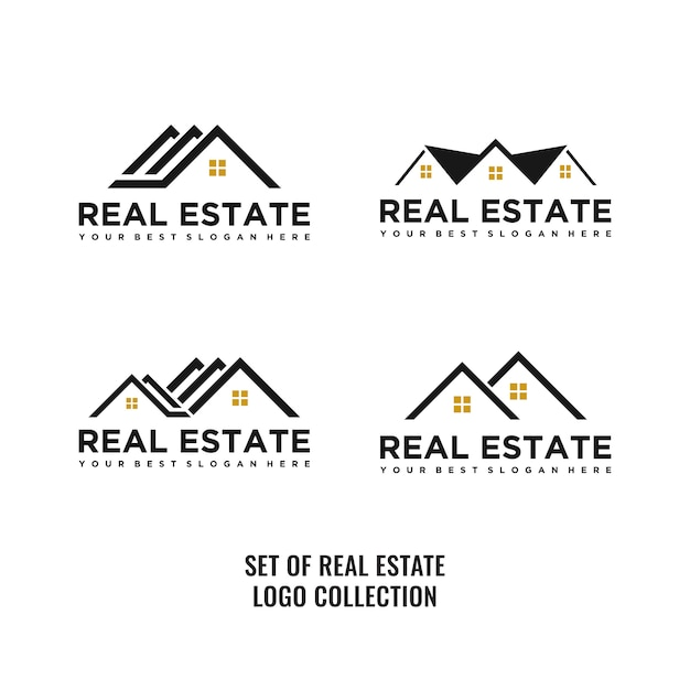 Ensemble de logo immobilier Vecteur Premium