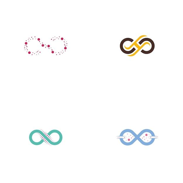 Ensemble de logo infinity Vecteur Premium