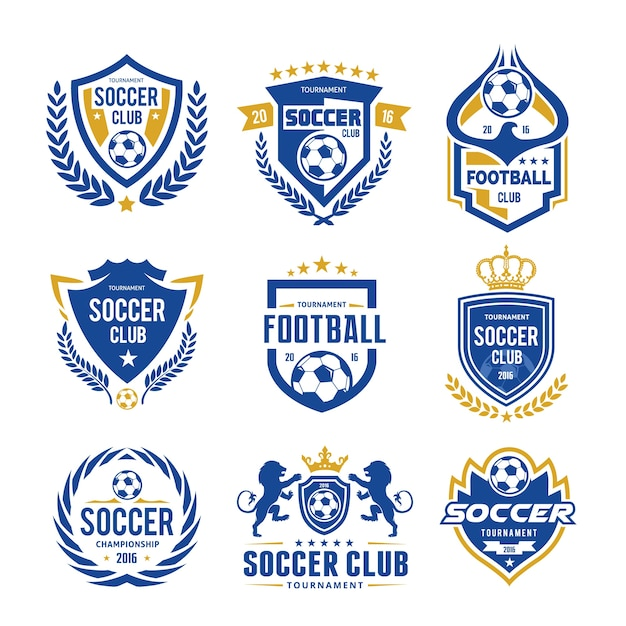 Ensemble De Logo De Soccer Logo Vecteur Premium