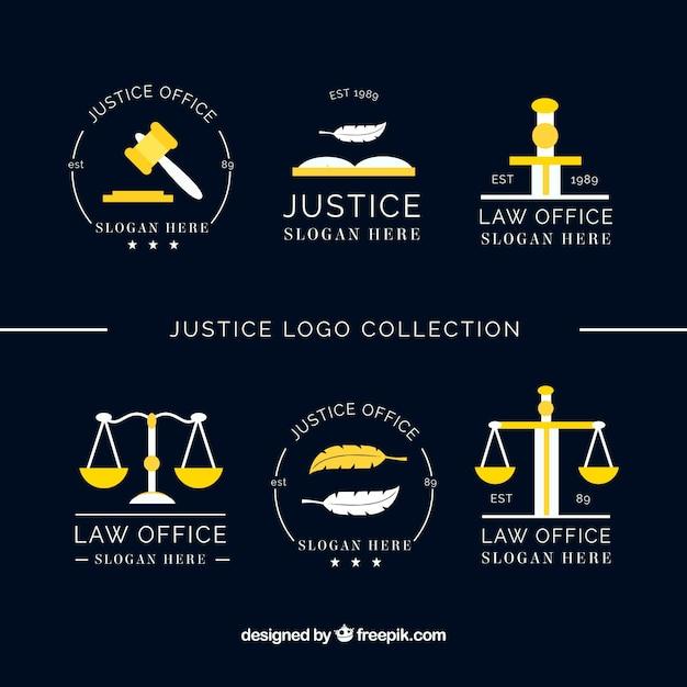 Ensemble de logos de droit Vecteur gratuit