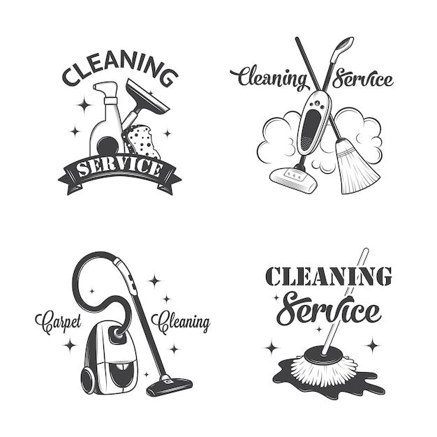 Ensemble de logos vintage Vecteur Premium