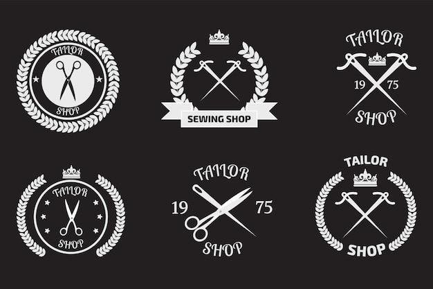 Ensemble de logotypes sur mesure Vecteur Premium