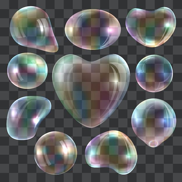 Ensemble de maquette de souffleur à bulles. illustration réaliste de 10 maquettes de souffleurs de bulles pour le web Vecteur Premium