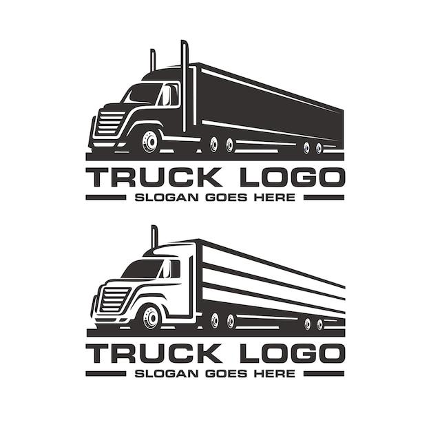 Ensemble de modèle de logo de camion Vecteur Premium