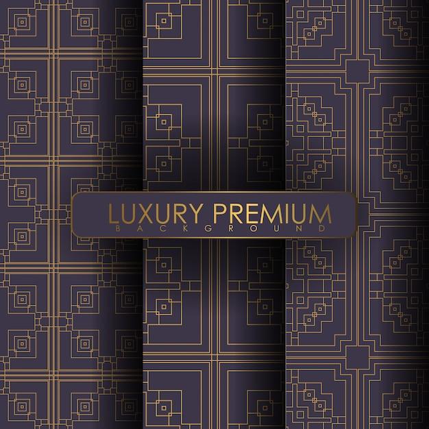 Ensemble de modèle sans couture d'ornement Vecteur Premium