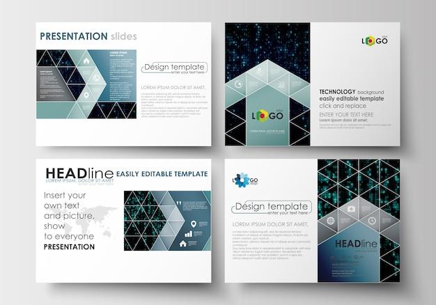 Ensemble De Modèles D'affaires Pour Les Diapositives De Présentation Vecteur Premium