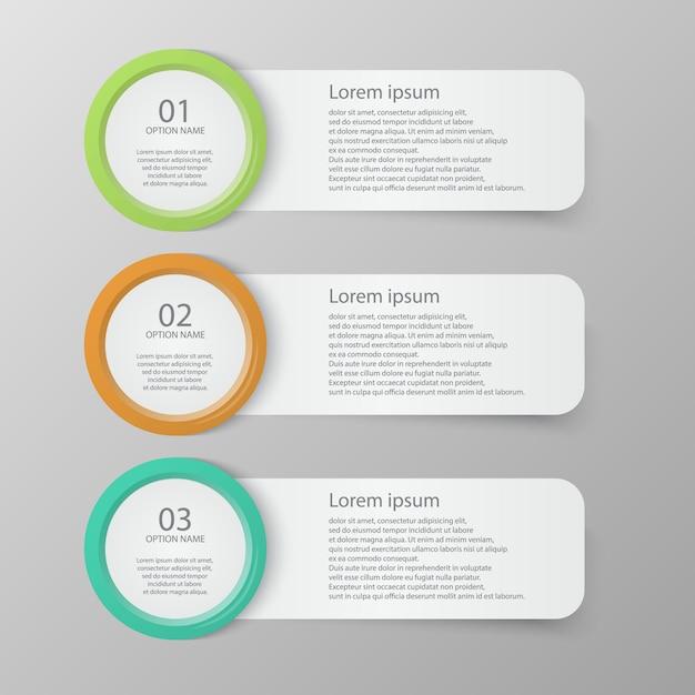 Ensemble de modèles de bannières infographiques Vecteur Premium