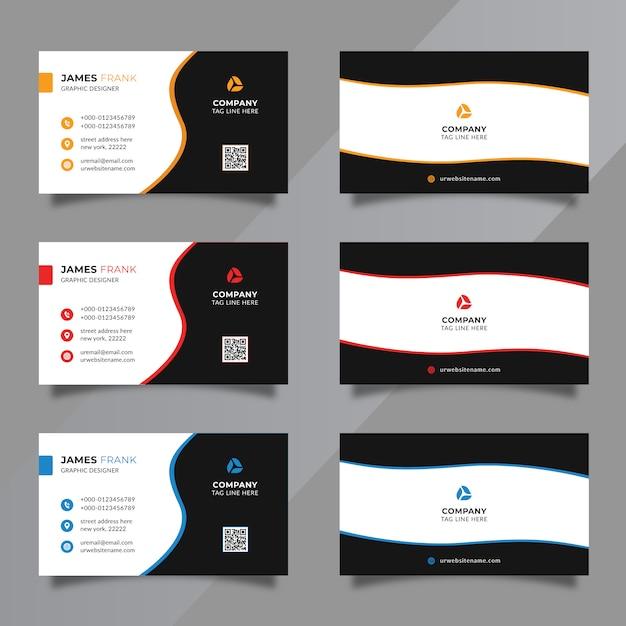 Ensemble de modèles de carte de visite minimale Vecteur Premium