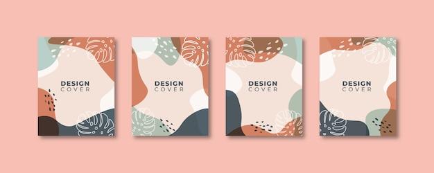 Ensemble De Modèles De Conception De Couverture Universelle Créative Abstraite. Vecteur Premium