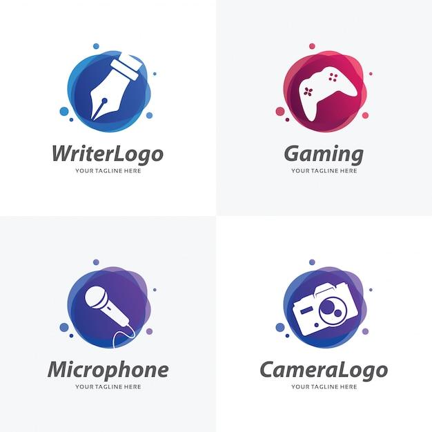 Ensemble de modèles de conception de logo hobby Vecteur Premium