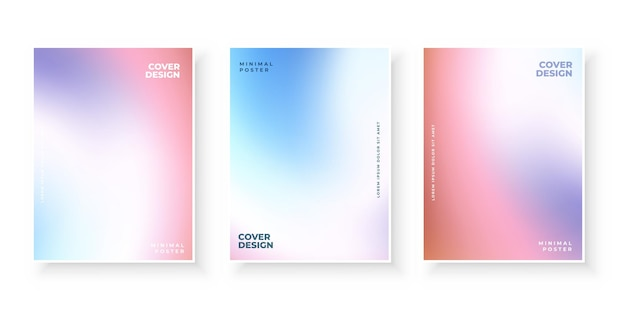 Ensemble De Modèles De Couvertures Dégradé Moderne Coloré Vecteur gratuit