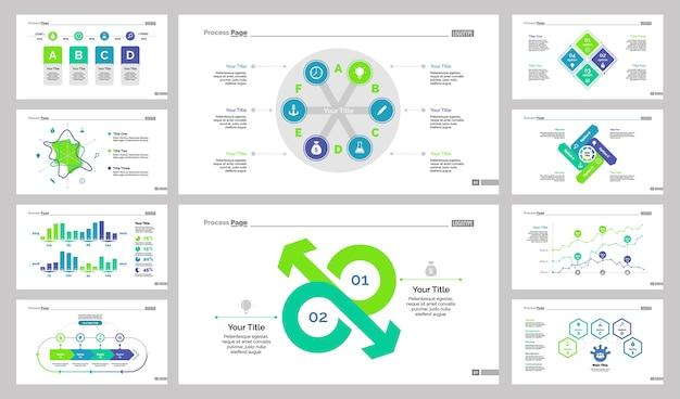 Ensemble de modèles de diapositives de dix affaires Vecteur gratuit