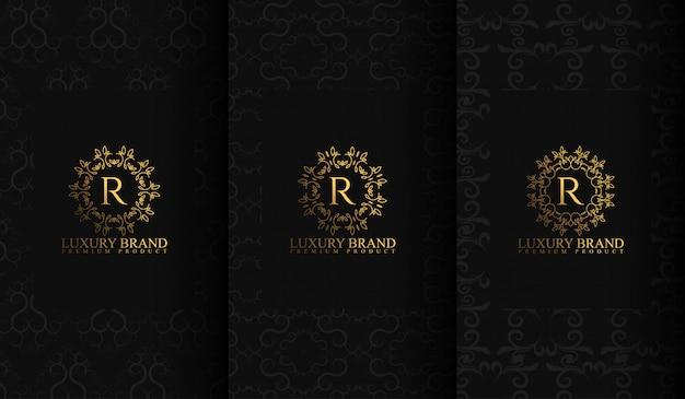 Ensemble de modèles d'emballage de luxe Vecteur Premium