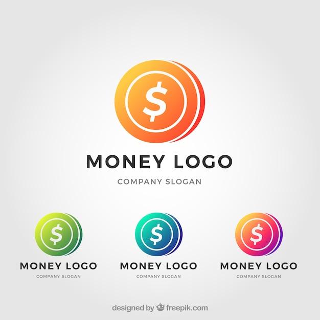 Ensemble de modèles de logo d'argent Vecteur gratuit
