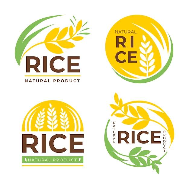 Ensemble De Modèles De Logo D'entreprise Céréales Vecteur gratuit
