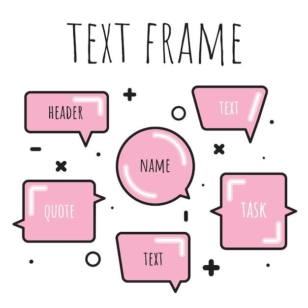 Un ensemble de modèles pour le texte dans le style aquarelle. Vecteur Premium