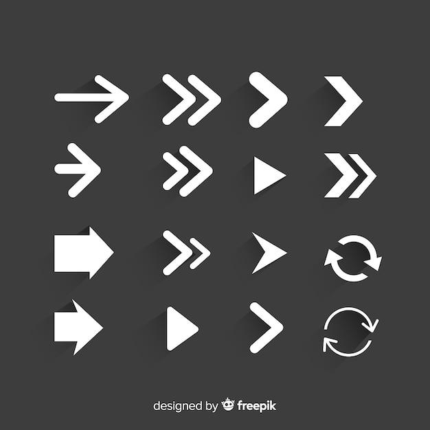 Ensemble moderne de flèches d'origine Vecteur gratuit